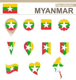 Coleção de bandeiras de mianmar, 12 versões