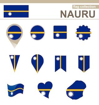 Coleção de bandeiras de nauru, 12 versões