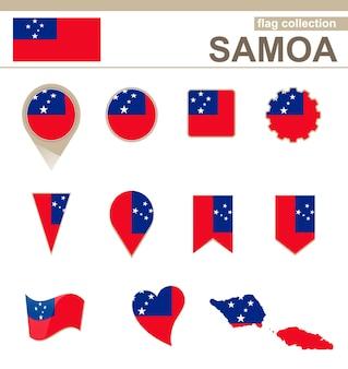 Coleção de bandeiras de samoa, 12 versões