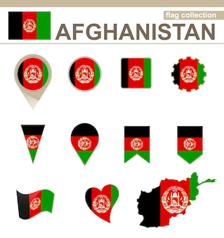 Coleção de bandeiras do afeganistão, 12 versões