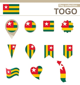 Coleção de bandeiras do togo, 12 versões