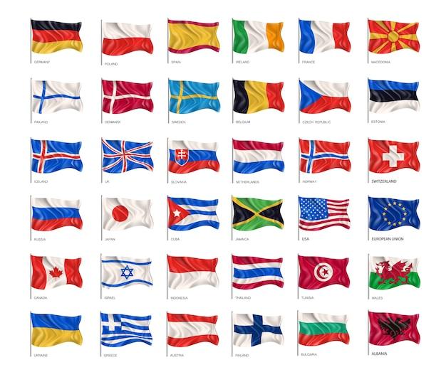 Coleção de bandeiras nacionais