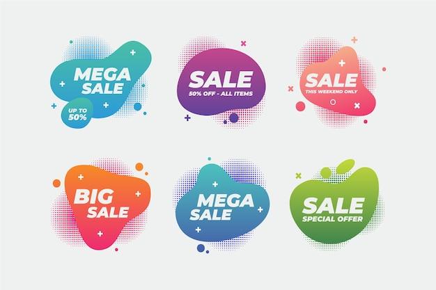 Coleção de banner colorido de vendas
