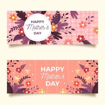 Coleção de banner com dia das mães