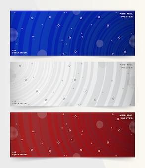 Coleção de banner conjunto geométrico.