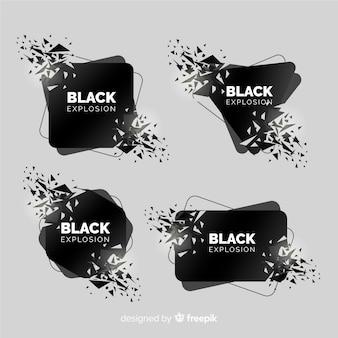 Coleção de banner de explosão escura