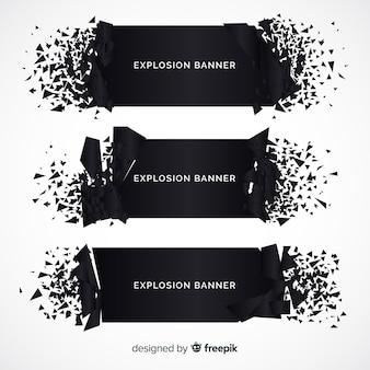 Coleção de banner de explosão