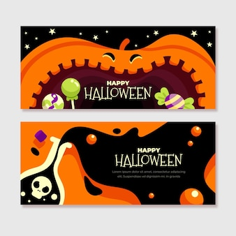 Coleção de banner de halloween