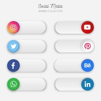 Coleção de banner de mídia social