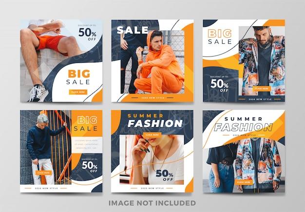 Coleção de banner de moda