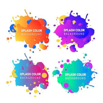 Coleção de banner de respingo de cor gradiente