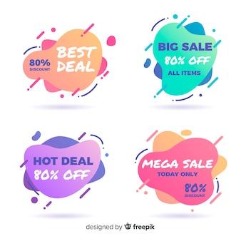 Coleção de banner de venda abstrata para mídias sociais