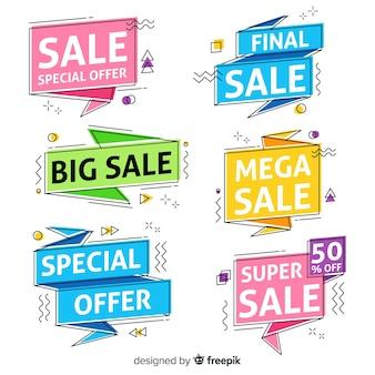 Coleção de banner de venda de memphis