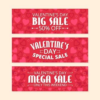 Coleção de banner de venda dia dos namorados