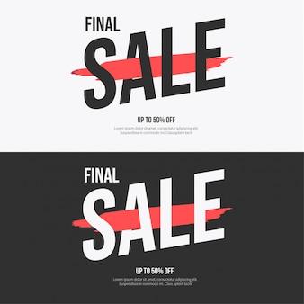 Coleção de banner de venda moderna