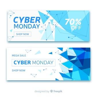 Coleção de banner de venda segunda-feira cyber abstrata