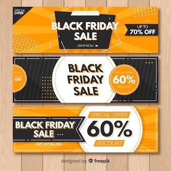 Coleção de banner de venda sexta-feira negra abstrata