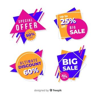 Coleção de banner de vendas abstratas