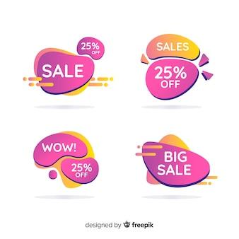 Coleção de banner de vendas em estilo abstrato