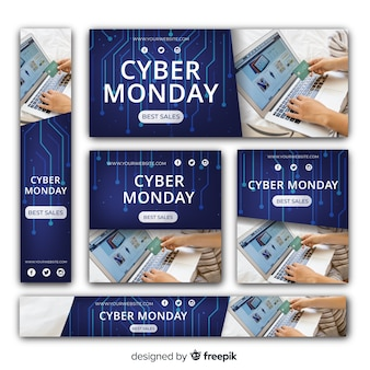 Coleção de banner do cyber segunda-feira venda web