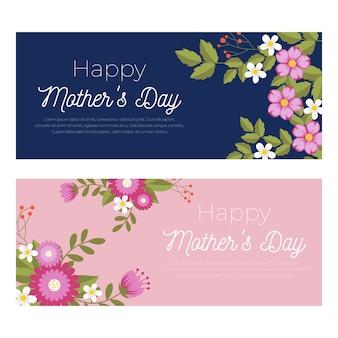 Coleção de banner do dia das mães