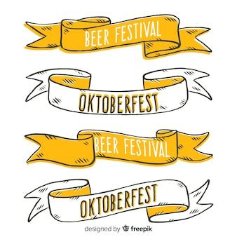 Coleção de banner mão desenhada oktoberfest