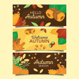 Coleção de banner outono