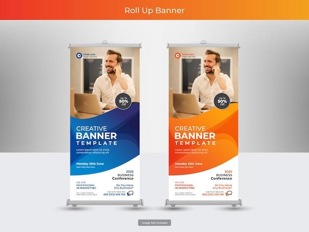 Coleção de banner roll up corporativo