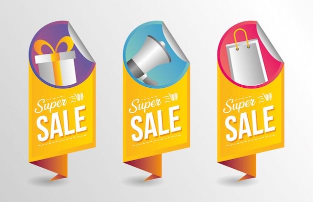 Coleção de banner super venda