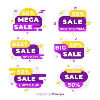 Coleção de banners coloridos de vendas