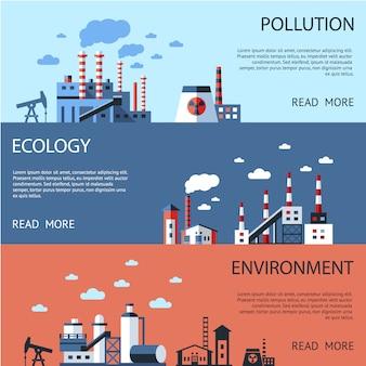 Coleção de banners de ambiente