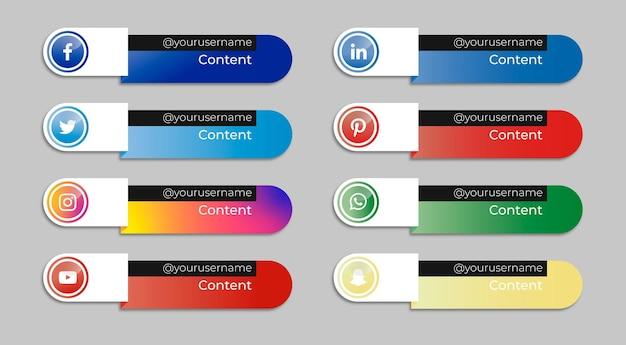 Coleção de banners de mídia social