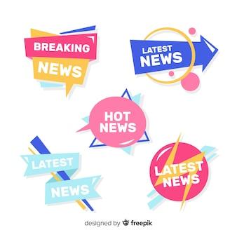 Coleção de banners de notícias mais recente colorida