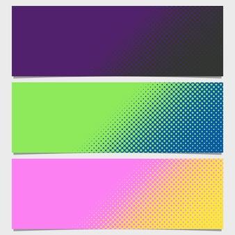 Coleção de banners de pontos multicoloridos