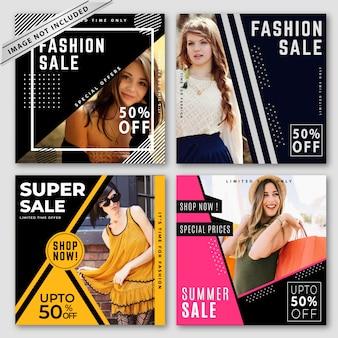 Coleção de banners de venda moderna