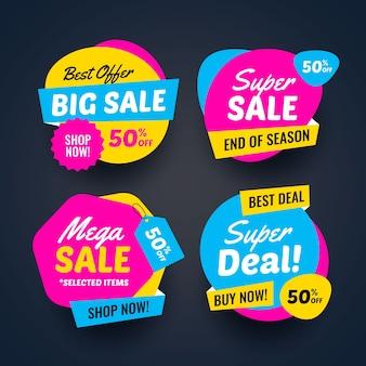 Coleção de banners de venda super negócio
