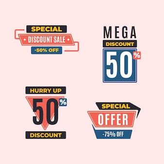 Coleção de banners de vendas de ofertas limitadas