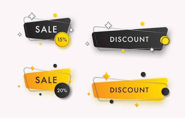 Coleção de banners de vendas