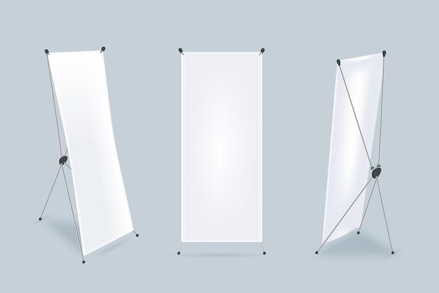 Coleção de banners de x stand