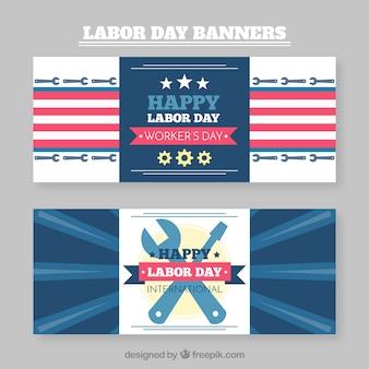 Coleção de banners do dia do trabalho feliz