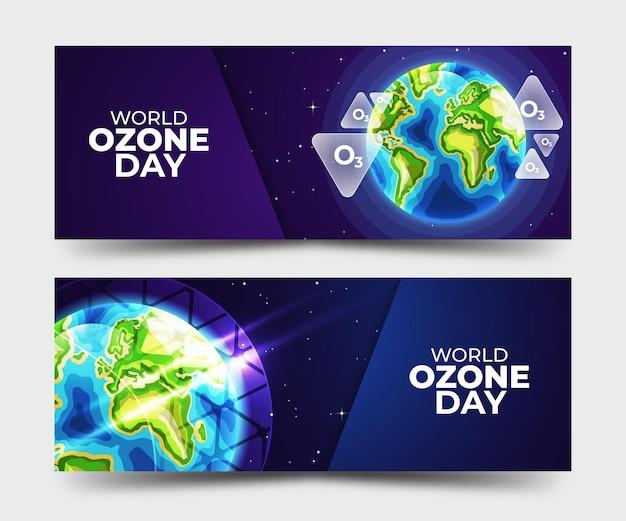 Coleção de banners do dia mundial do ozônio