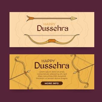 Coleção de banners do festival dussehra