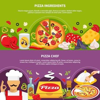 Coleção de banners master de pizza
