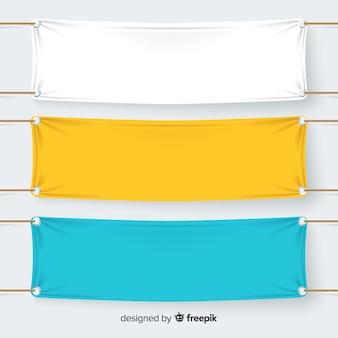 Coleção de banners têxteis
