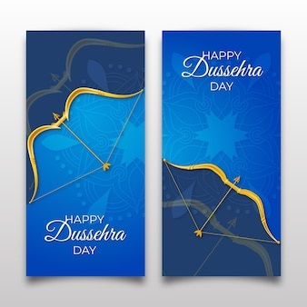 Coleção de banners verticais dussehra