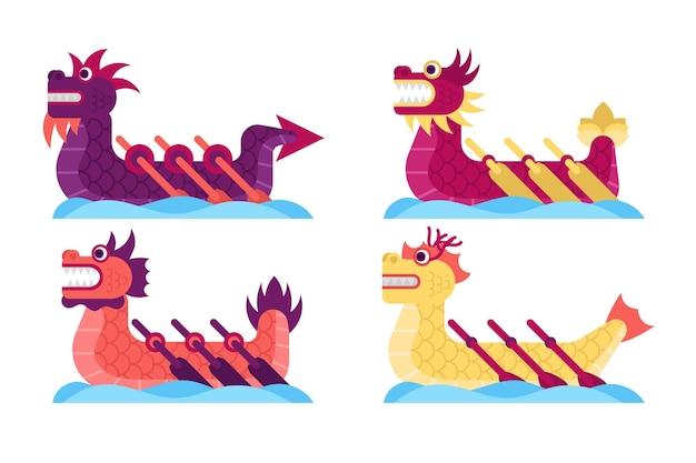 Coleção de barcos-dragão
