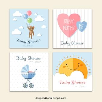 Coleção de bebê cartões de chuveiro