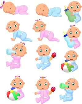 Coleção de bebê dos desenhos animados