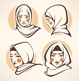 Coleção de belas garotas árabes