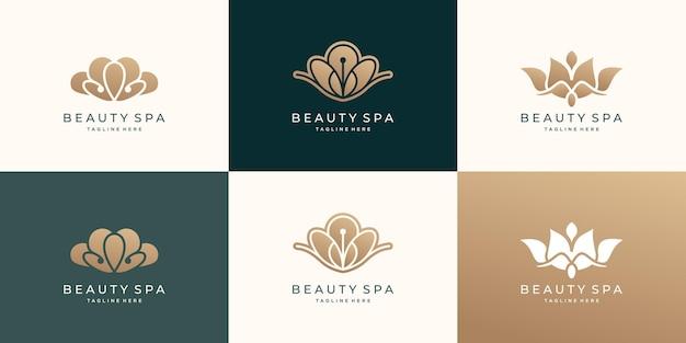 Coleção de beleza e design de logotipo de spa